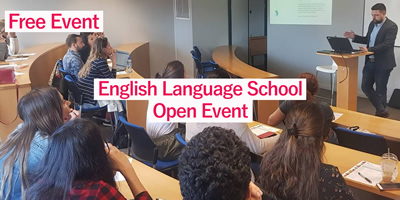 English Language Open Day Event - Thursday 17th April Frederick Street Campus and Wednesday 18th April Temple Bar Campus