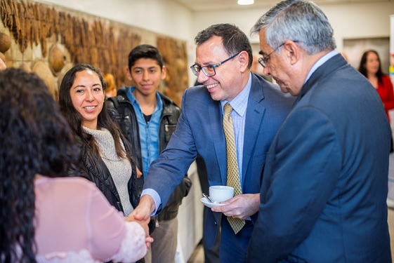 His Excellency Ambassador of Mexico to Ireland, Miguel Malfavón meeting some of his fellow Mexicans who are IBAT students.